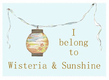 Wisteria and Sunshine button