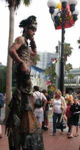 steampunk stilts dude at San Diego Comic-Con