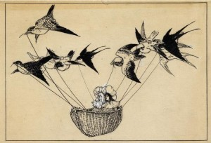 birds and basket