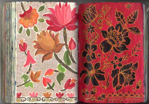 One of the many sketchbook pictures Jennifer has shared on her blog. Click the image to visit her whole sketchbook.