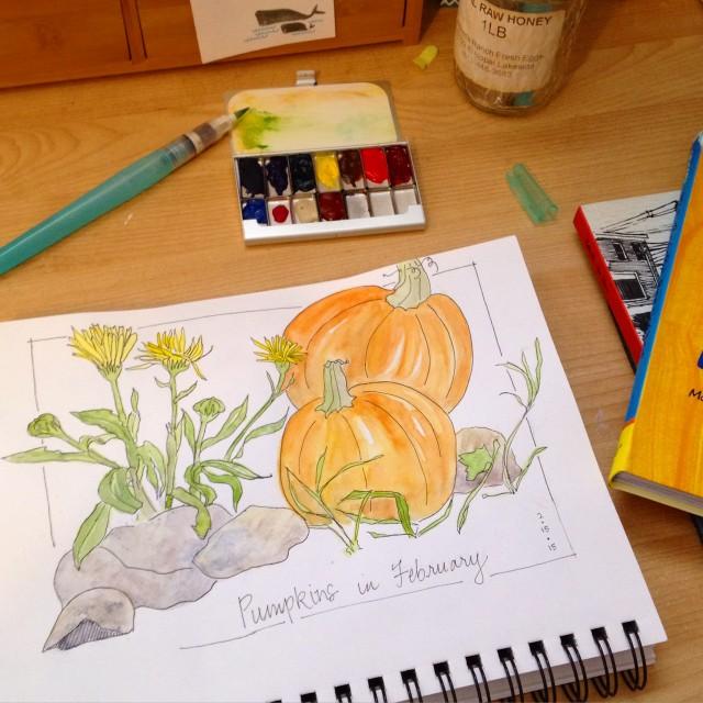 spring pumpkins