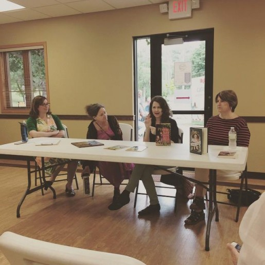 Discussing our writing processes at Deep Valley Homecoming. Photo swiped from Nancy Piccone, with thanks!