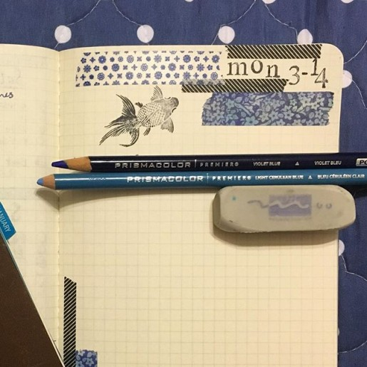 bullet journal monday in march