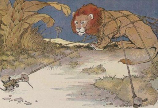Milo Winter illustration from Aesop for Children