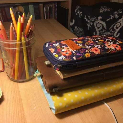 pen case and planners