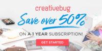 Creativebug sale now through July 17