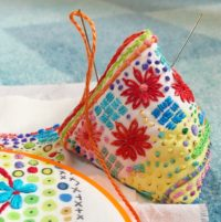 photo of handstitched pincushion