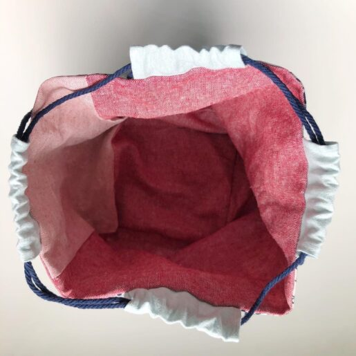 Photo of a handmade drawstring rice pouch