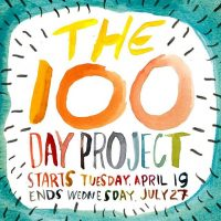 100 days of color on paper
