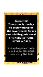The Nerviest Girl in the World Cover Reveal Tomorrow!